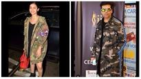 In pics: From Alia Bhatt to Karan Johar, it's camouflage all the way for airport looks of celebs at IIFA 2017