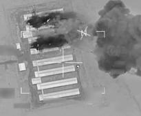 Watch US-led coalition airstrikes level a car-bomb factory near ISIS' biggest city
