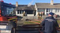 Fire breaks out at one of four joined Dunedin flats