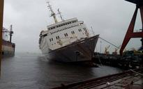 Cruise vessel in Goa tilted due to heavy rains, no crew aboard