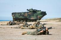 This is what a joint US Marine-Japanese training exercise looks like