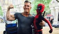 Josh Brolin's 'Cable' chills with little Deadpool on sets of sequel