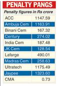 Fine on cement firms stays