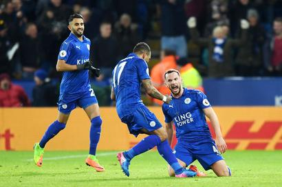 EPL: Vardy nets brace as Leicester stun Liverpool