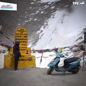TVS Scooty Zest 110 Himalayan Highs special edition celebrates Anam's Khardung La ride
