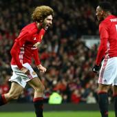 Marouane Fellaini helps Manchester United to 2-0 win over Hull City in EFL Cup semi