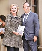 Clinton related to Hollande, claims book
