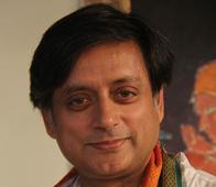 Who is the female companion Shashi Tharoor was spotted with?