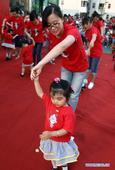 Children dance for forthcoming Int'l Children's Day