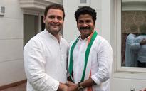 Telangana leader Revanth Reddy joins Congress in presence of Rahul Gandhi