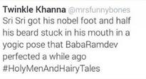 'Art of living or intimidation?': Twitterati backs Twinkle Khanna for 'joke' on Sri Sri