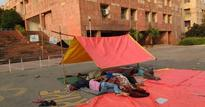 Denied hostel rooms, two JNU students pitch tent on campus