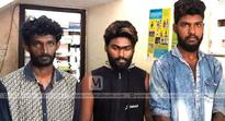 Three arrested for selling ganja