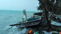 Lakshadweep battered; 2 `urus' submerged