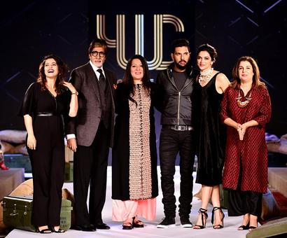 PHOTOS: Star turnout for Yuvraj's fashion label launch