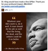 UPS Tweeted -- Then Deleted -- A Bizarre MLK Jr Message