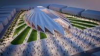 UAE pavilion, a falcon in...