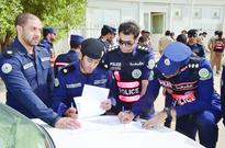 Strict actions against traffic violators