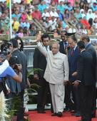 PHOTOS: Pranab joins Mauritians' I-Day celebration