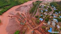Quake lake formed along Longchuan River after landslide in SW China