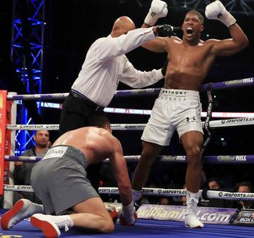 Sensational victory! Anthony Joshua knocks out Wladimir Klitschko