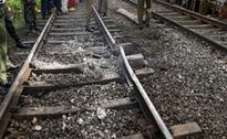 Blast damages railway track in Karachi