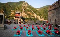 Beijing celebrates International Yoga Day at Great Wall of China