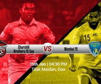 Preview: I-League - Churchill Brothers eyeing win against Mumbai FC