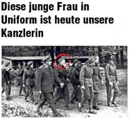 German Tabloid Publishes Photo of Angela Merkel in Communist Uniform