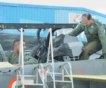 IAF chief Raha takes to the skies in a Tejas