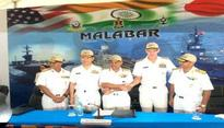 Malabar-17: Naval manoeuvres continue despite rough weather conditions