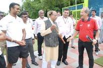 Vijay Goel Reviews Preparations of Rio Olympics 2016 at SAI NSSC Bangalore
