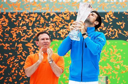 Djokovic joins game's greats after claiming Miami title