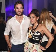 Thom Evans works up a MAJOR sweat as his white shirt turns completely see-through at Esquire bash