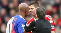 WATCH: El Hadji Diouf puts boot into Steven Gerrard - Riise and Liverpool fans respond