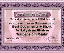 Garbage Bin Meals Documentary film wins award in Russia