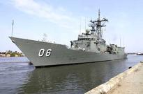 HMAS Newcastle visits Kochi, PASSEX with INS Sharda