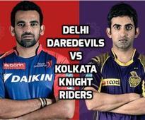 DD vs KKR Live Scores IPL 2016: Suryakumar falls as Daredevils look to tighten their grip