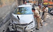 Minister in car collision mishap, escapes with minor injuries