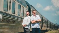 Luke Mangan cooking on board the world's poshest train
