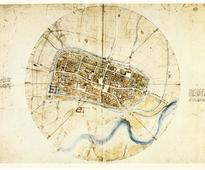 Leonardo da Vinci This Old Map: Da Vinci's City Plan, 1502