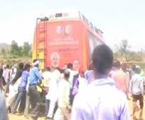 MP CM Shivraj Singh Chouhan's 'chariot' gets stuck in sand