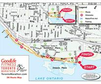 What's closed for today's marathons in Mississauga and Toronto