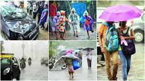 Suburbs lashed, scanty showers in South Mumbai