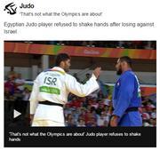 Unsportsmanlike behavior: Criticism, boos for Egyptian Olympiad who refuses Israeli handshake