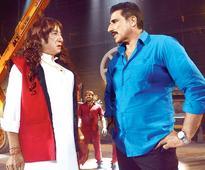 Shakti Kapoor and Mukesh Rishi shoot at Filmistan Studio