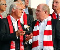Guardiola deserved more credit at Bayern: Hoen... Bayern Munich former president Ulli Hoeness and Franz Beckenbauer. REUTERS/K...