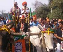 Why this BJP MLA rode a bullock cart to Vidhan Bhawan