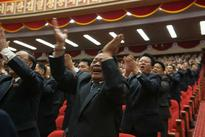Footage shows fuming Kim Jong-un lose his temper while vowing to boost North Korea's nuclear defence