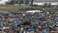Turbulence over slums at Mumbai airport